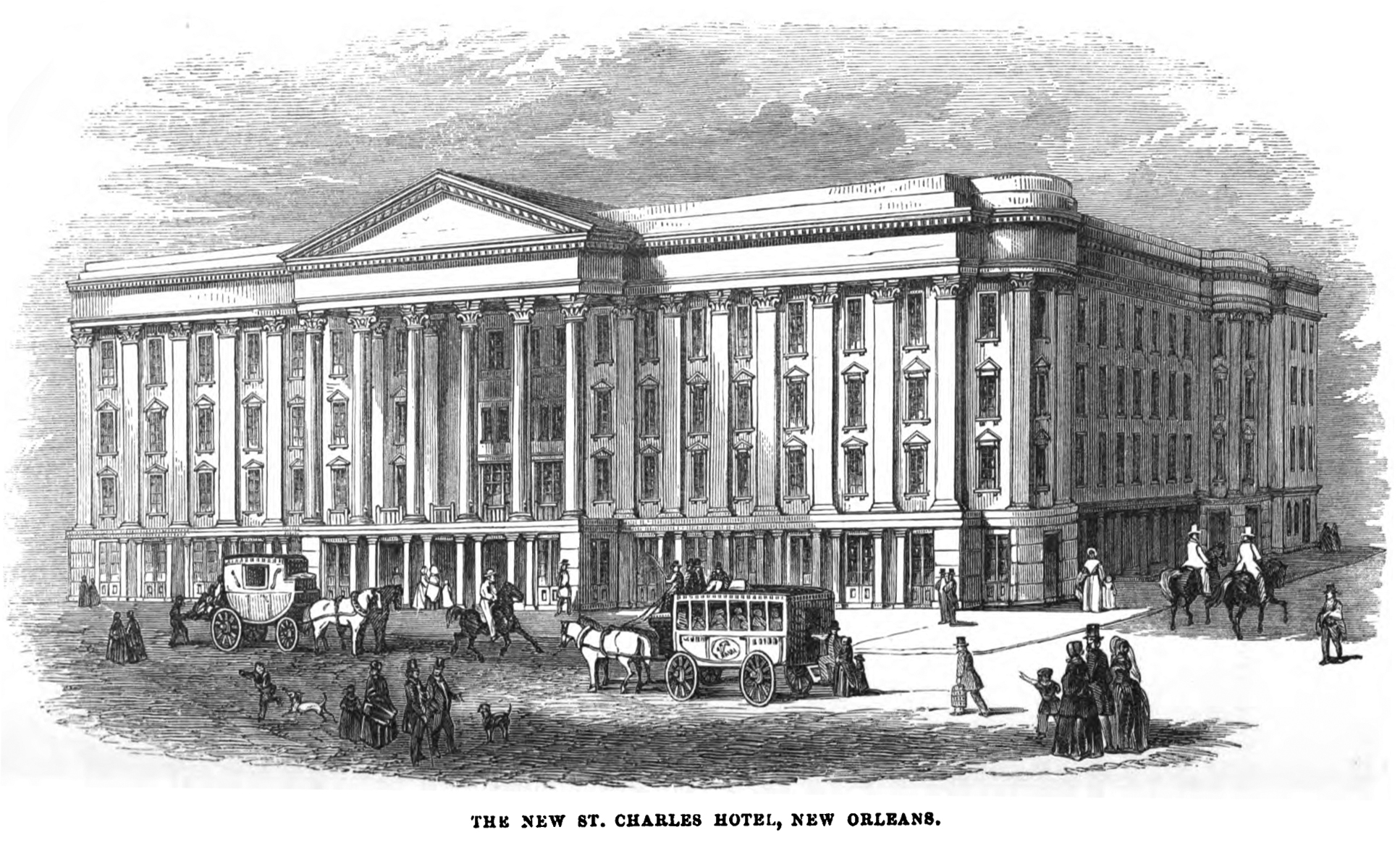 The St. Charles Hotel In New Orleans